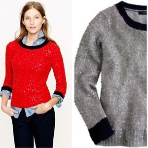 •J. Crew• Scattered Sequin Sweater in Gray
